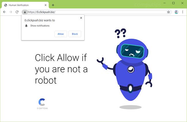 eliminar https://clickpush.biz, 0.clickpush.biz (clic empuje biz) notificaciones de virus