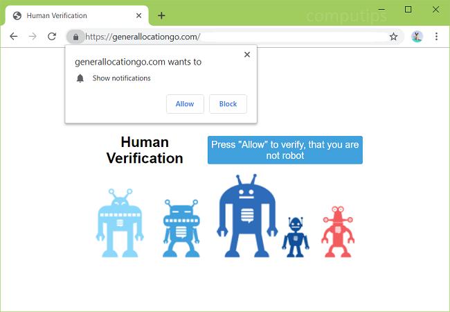 eliminar https://generallocationgo.com, 0.generallocationgo.com, 1.generallocationgo.com, 2.generallocationgo.com (ubicación general ir) notificaciones de virus