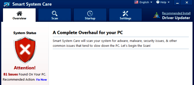 How to remove Smart System Care Program