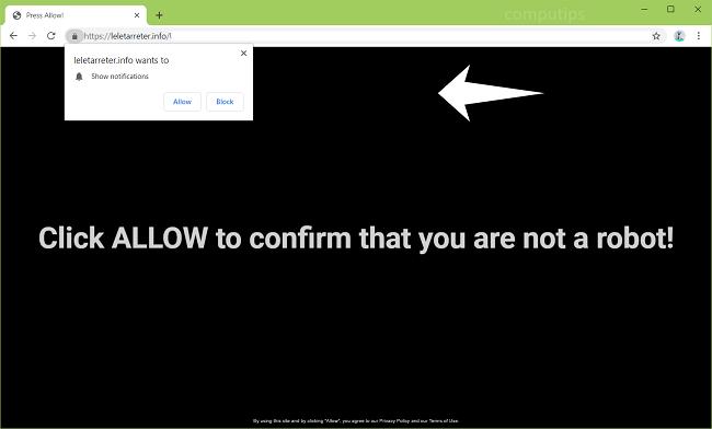 eliminar https://leletarreter.info, t2zr.leletarreter.info, cf5j.leletarreter.info, q3jd.leletarreter.info, v0m8.leletarreter.info, pakl.leletarreter.info notificaciones de virus