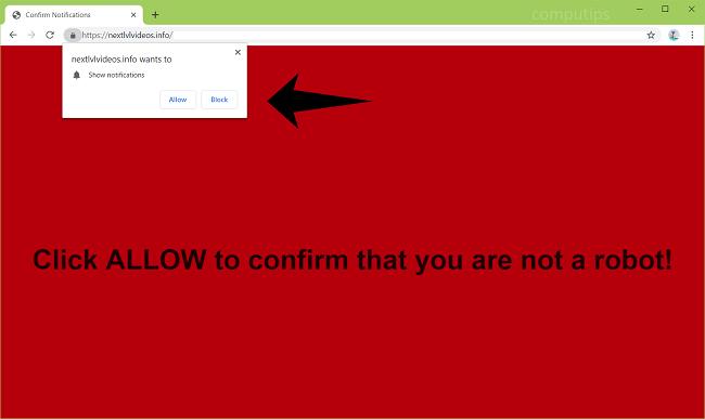 Delete https://nextlvlvideos.info, p8.nextlvlvideos.info, p7.nextlvlvideos.info, p6.nextlvlvideos.info, p5.nextlvlvideos.info, p4.nextlvlvideos.info virus notifications