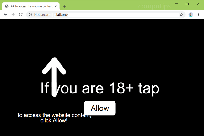 Delete https://platf.pro, p8.platf.pro, p7.platf.pro, p6.platf.pro, p5.platf.pro, p4.platf.pro virus notifications
