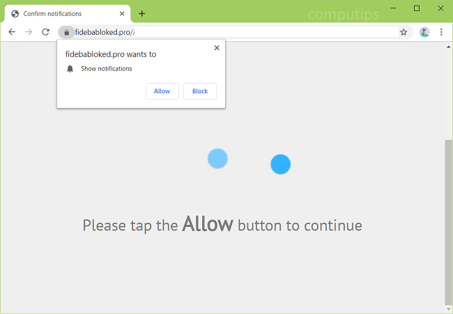 Delete https://fidebabloked.pro, cv0z.fidebabloked.pro, mg82.fidebabloked.pro, mirt.fidebabloked.pro, wrnx.fidebabloked.pro, zsjs.fidebabloked.pro virus notifications