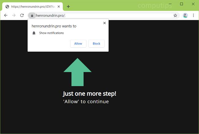 Delete henronundrin.pro, b7hy.henronundrin.pro, mpwg.henronundrin.pro, jap6.henronundrin.pro, j92t.henronundrin.pro, kplb.henronundrin.pro, etc. virus notifications