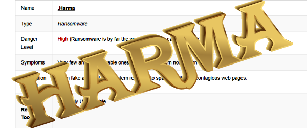 How to remove Harma Ransomware