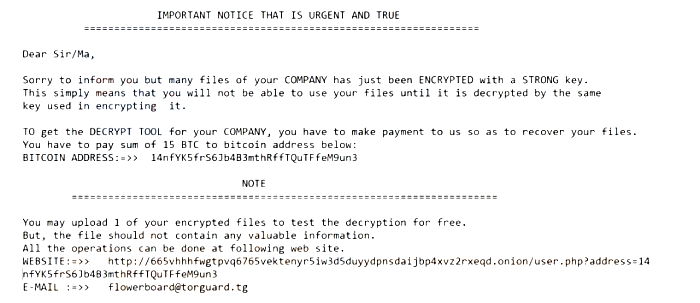 How to remove TFlower ransomware