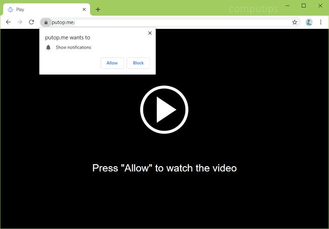 Delete https://putop.me, nqfn.putop.me, pcfo3.putop.me, ukgbf.putop.me, 34275.putop.me, etc. virus notifications
