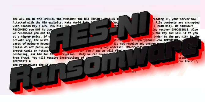 How to remove AES-Ni ransomware