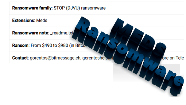 How to remove Meds ransomware