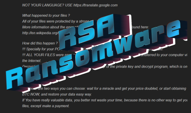 how to remove rsa ransomware