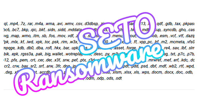 How to remove Seto ransomware