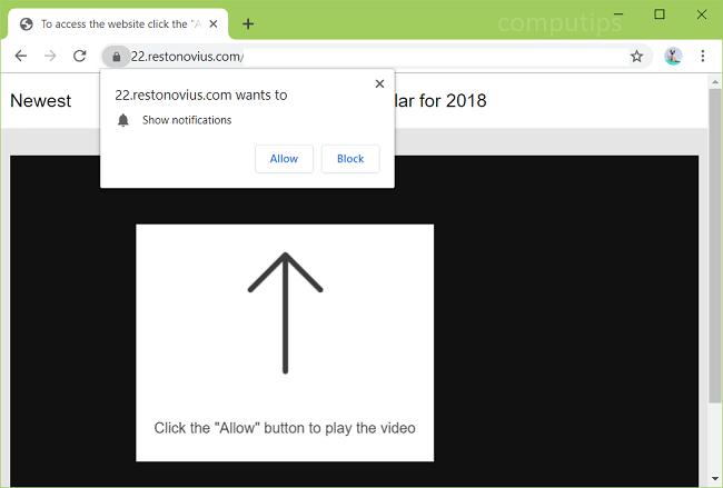 How to remove Restonovius.com ads