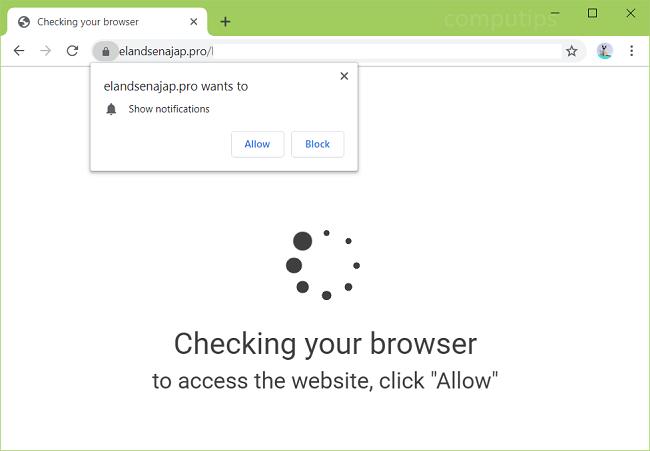 Delete elandsenajap.pro, kg9o.elandsenajap.pro, i976.elandsenajap.pro, jcs4.elandsenajap.pro, m689.elandsenajap.pro, o0ps.elandsenajap.pro, etc. virus notifications