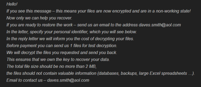 How to remove DavesSmith ransomware