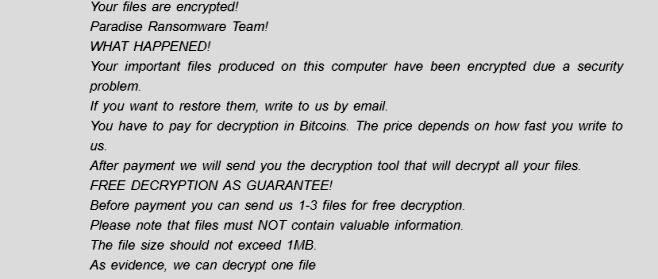 How to remove Paradise ransomware