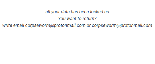 How to remove Corpseworm@protonmail.com.worm ransomware