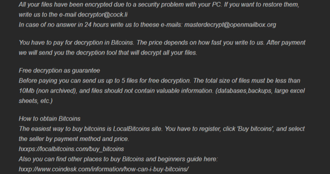 How to remove WDM-DCRTR ransomware