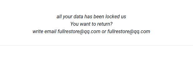 How to remove Fullrestore@qq.com.xda ransomware