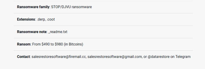How to remove Salesrestoresiftware@firemail.cc ransomware