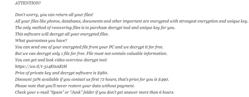 How to remove XOZA ransomware