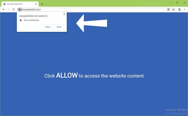 Delete esreasedreful.com, ca4t.esreasedreful.com, dxdp.esreasedreful.com, soxm.esreasedreful.com, tw4z.esreasedreful.com, etc. virus notifications