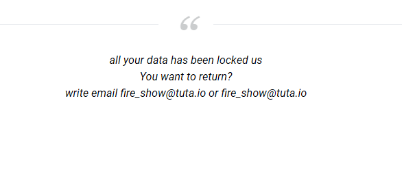 How to remove Fire_show@tuta.io.adobe ransomware