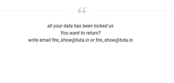 How to remove Fire_show@tuta.io.adobe ransomware