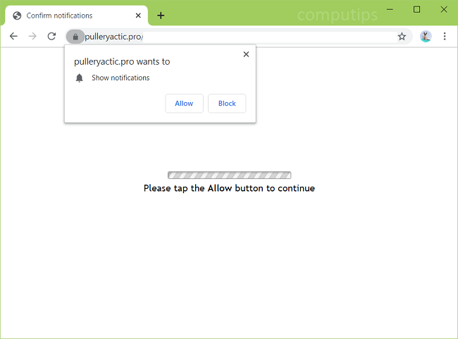 Delete pulleryactic.pro, bbhn.pulleryactic.pro, kifo.pulleryactic.pro, afei.pulleryactic.pro, etc. virus notifications
