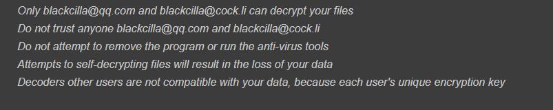 remove cilla ransomwar