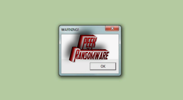 how to remove peek ransomware