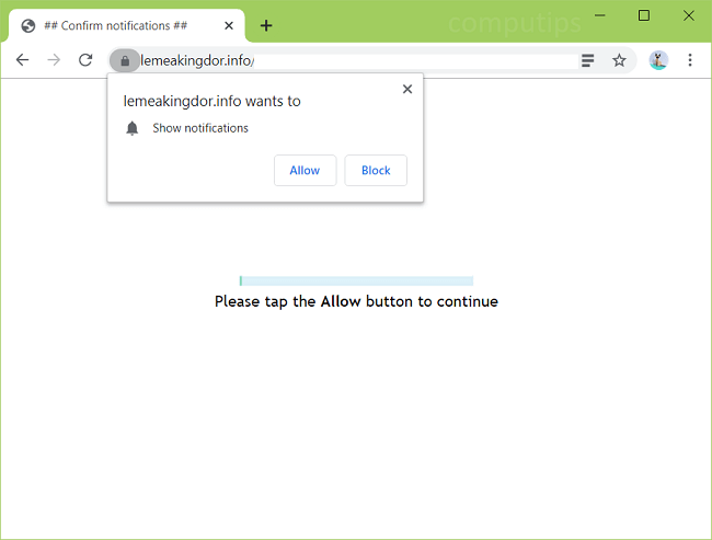 Delete lemeakingdor.info, nx20.lemeakingdor.info, mzm4.lemeakingdor.info, bjzm.lemeakingdor.info, etc. virus notifications