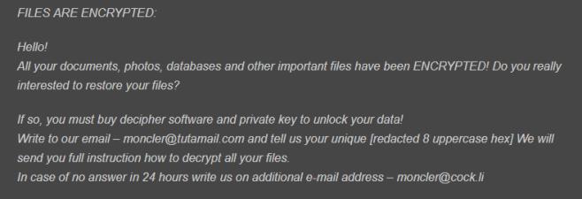 Redrum ransomware