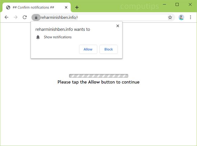 reharminishben.info de eliminación, x4f8.reharminishben.info, i088.reharminishben.info, etc. notificaciones de virus