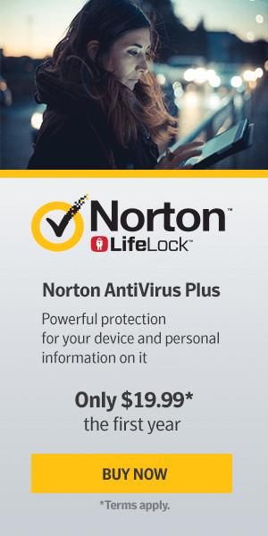 Norton antivirus banner