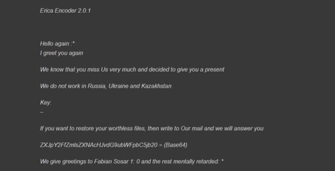 remove erica ransomware
