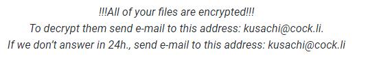 remove kusachi@cock.li adair ransomware