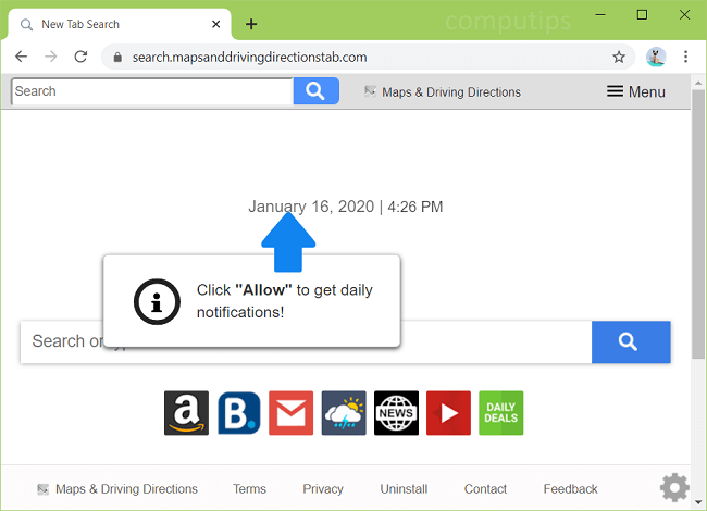 delete https search maps nd driving directions tab com virus