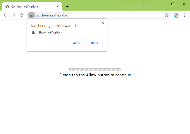 Supprimer tadchenmujahe.info, uiya.tadchenmujahe.info, yese.tadchenmujahe.info, q7il.tadchenmujahe.info, etc. les notifications du virus