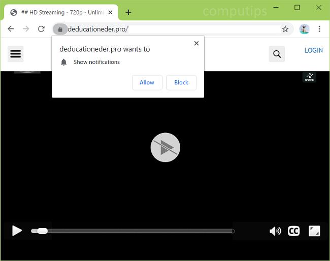 Delete d education eder.pro, grow.deducationeder.pro, rqvz.deducationeder.pro, f27o.deducationeder.pro, etc. virus notifications