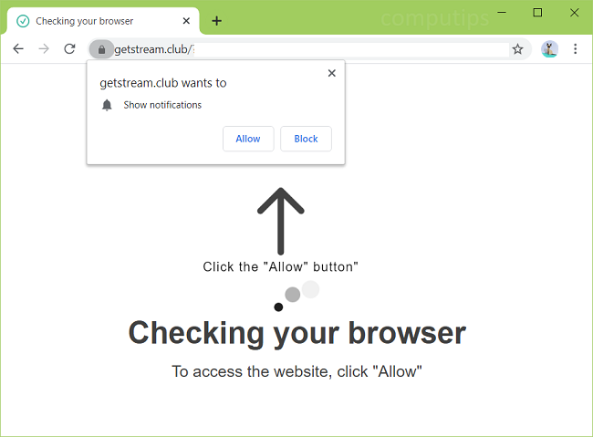 stream.club borrado get, 0.notificaciones de virus getstream.club