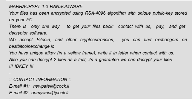 ransomware marrcrypt