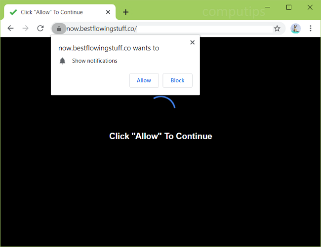 Delete now.bestflowingstuff.co virus notifications