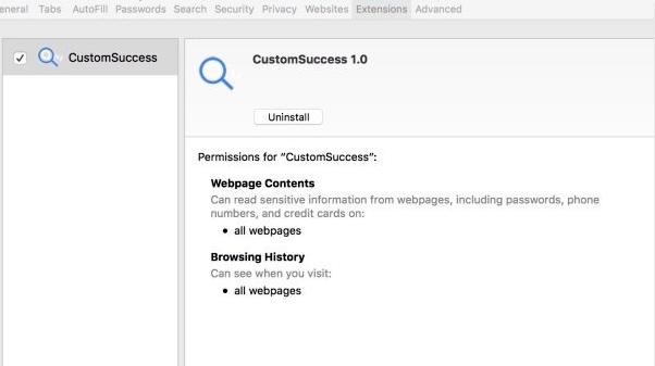 remover customsuccess de mac