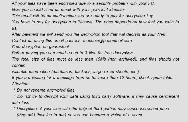 remove moncrypt ransomware