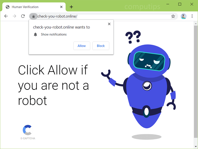 Delete check-you-robot.online, 0.check-you-robot.online, 1.check-you-robot.online, 2.check-you-robot.online virus notifications
