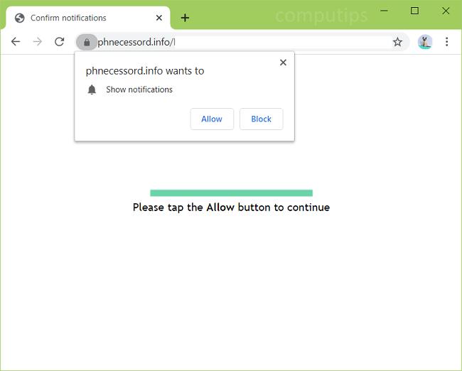 Delete phnecessord.info, p0y2.phnecessord.info, k9py.phnecessord.info, o45p.phnecessord.info virus notifications