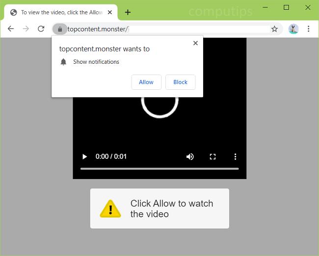 Delete top content.monster, 0.topcontent.monster virus notifications
