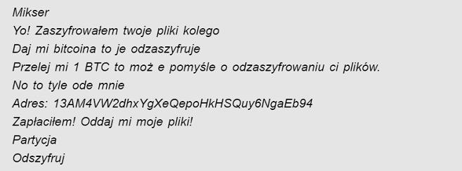 misturador de ransomware