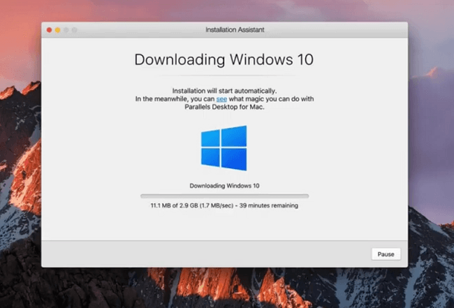 installing windows on a macbook without bootcamp assistant using parallels