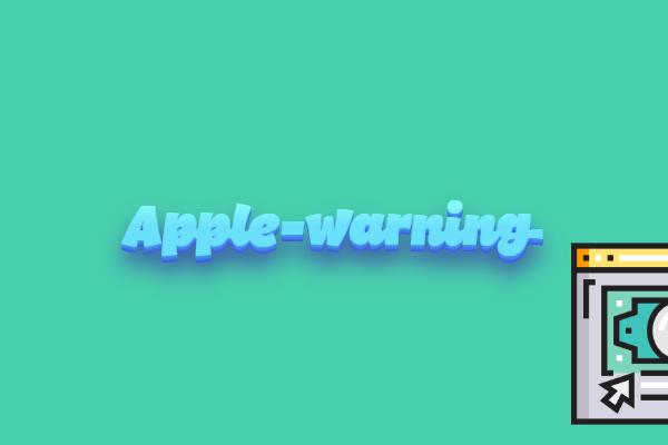 remove apple warning